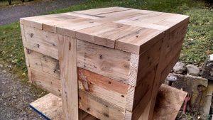 DIY Unique Pallet Side Table