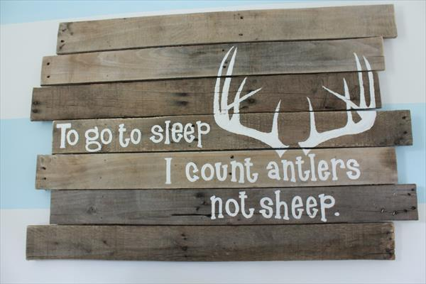repurposed pallet wall sign