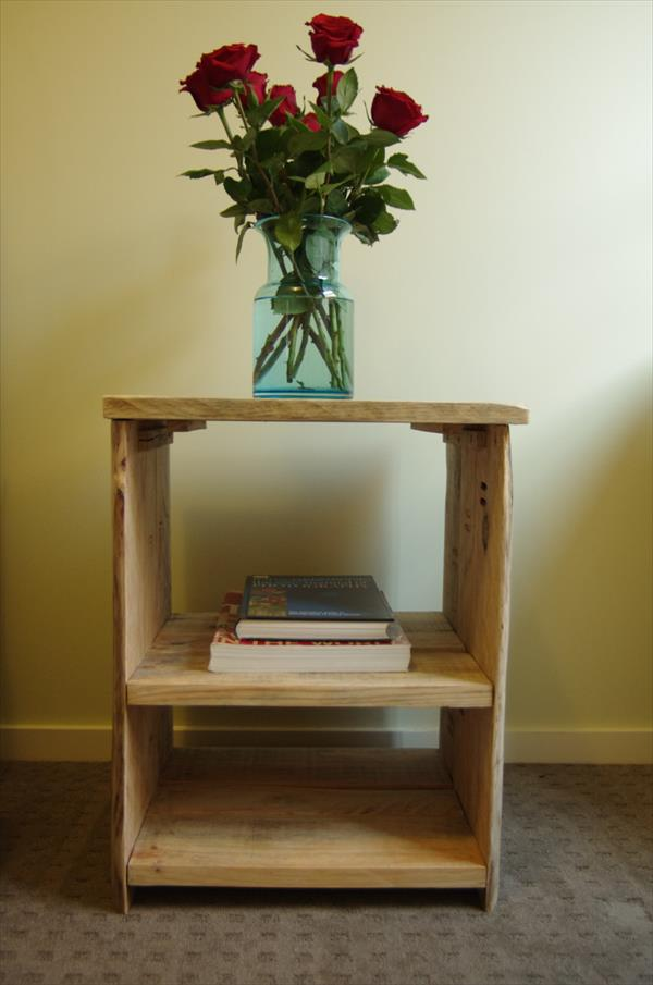 handmade pallet side table