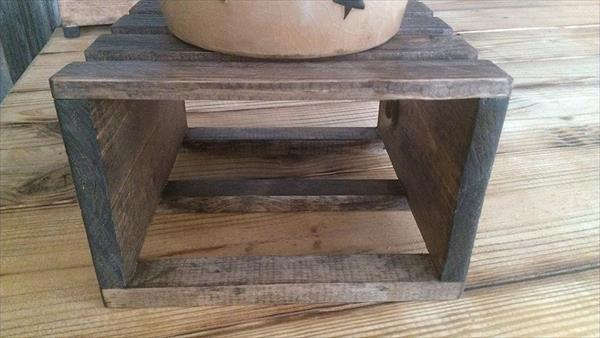 handcrafted pallet table riser