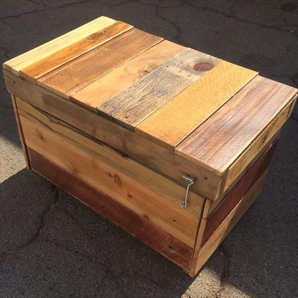 handcrafted pallet chest