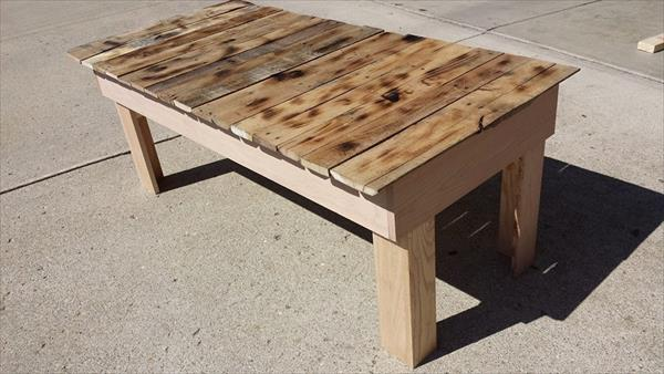 overhauled pallet chic coffee table