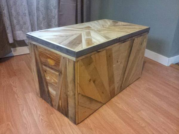 handcrafted pallet storage chest