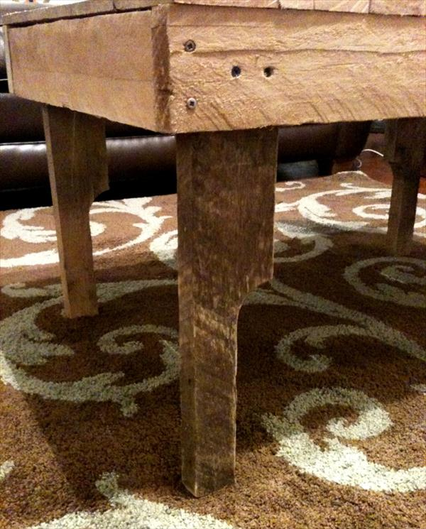 repurposed pallet coffee table