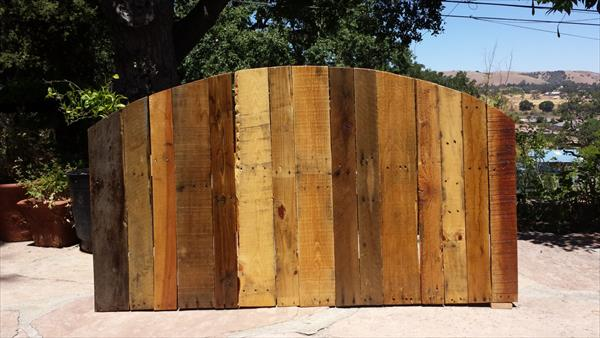 resurrected pallet arched pallet headboard