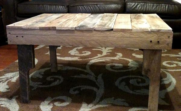 DIY Ultra Rustic Pallet Coffee Table | Pallet Furniture Plans