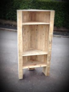 DIY Pallet Corner Furniture Unit