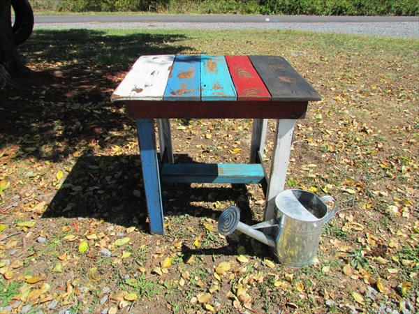 upcycled pallet garden table