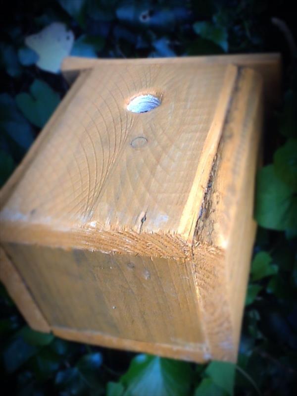 rustic pallet wood birdhouse