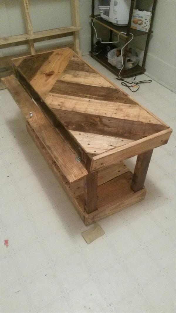 recycled pallet custom made coffee table