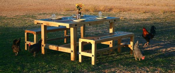 repurposed pallet dining table furniture