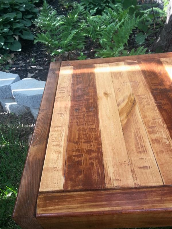 repurposed rustic pallet style table