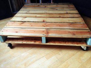 DIY Refurbished One Pallet Coffee Table