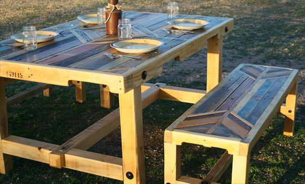 rustic pallet dining table furniture