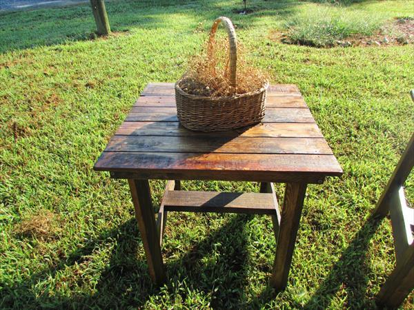 resurrected pallet side tables