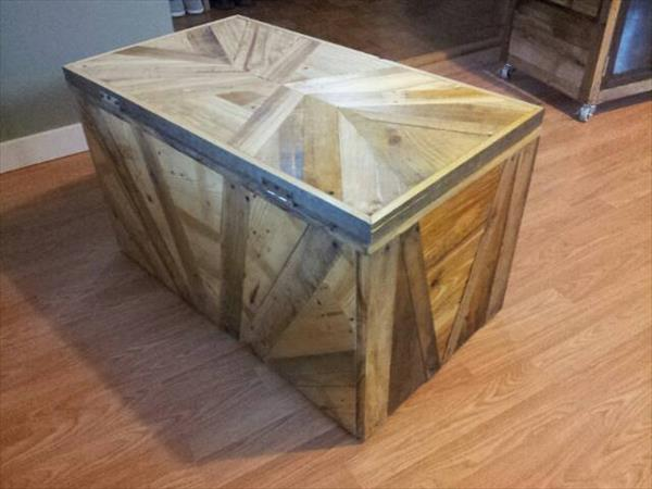 Pallet Chest / Pallet Storage Trunk DIY Rustic Pallet Shoe Rack