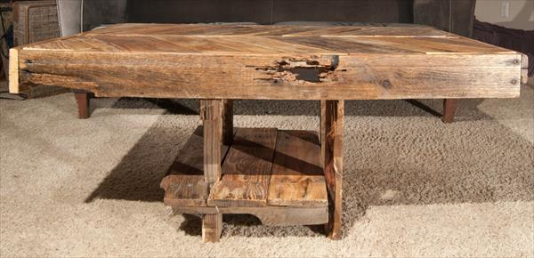 upcycled pallet chevron side table