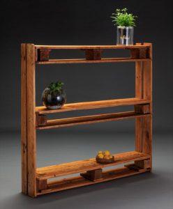 handmade easy pallet bookcase