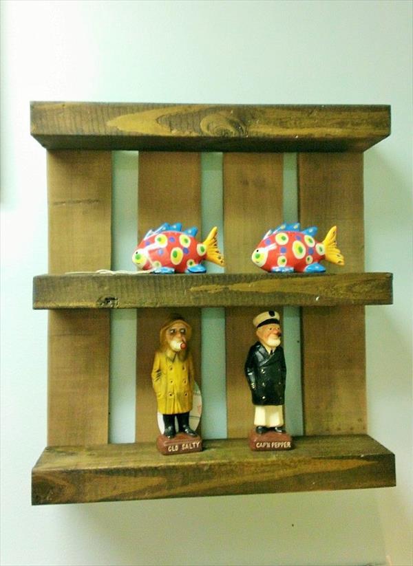 handmade pallet kitchen wall shelf