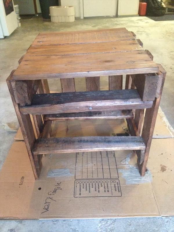 diy reclaimed wood pallet side table pallet furniture plans
