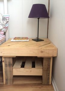 handmade pallet wood side table