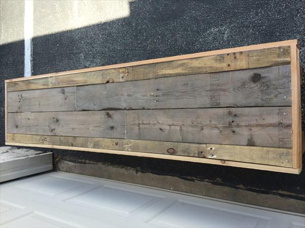 rustic pallet wood bench