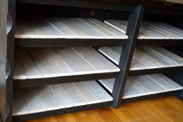 reconstructed pallet media cabinet
