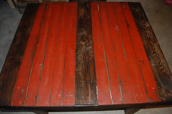 reclaimed pallet two toned pallet coffee table