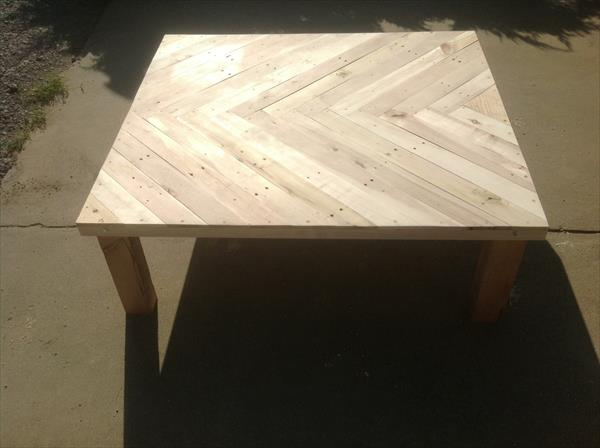 rustic yet sturdy pallet coffee table