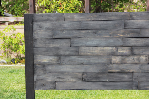 recycled pallet bed side frame
