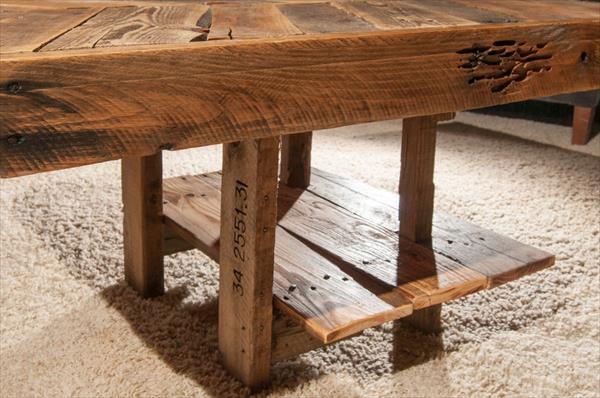 reclaimed pallet chevron side table