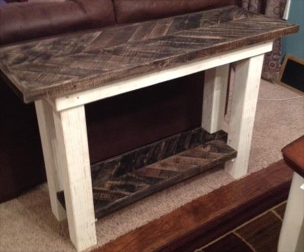 vintage pallet sofa table
