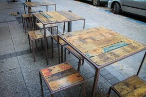 DIY Industrial Pallet Iron Tables