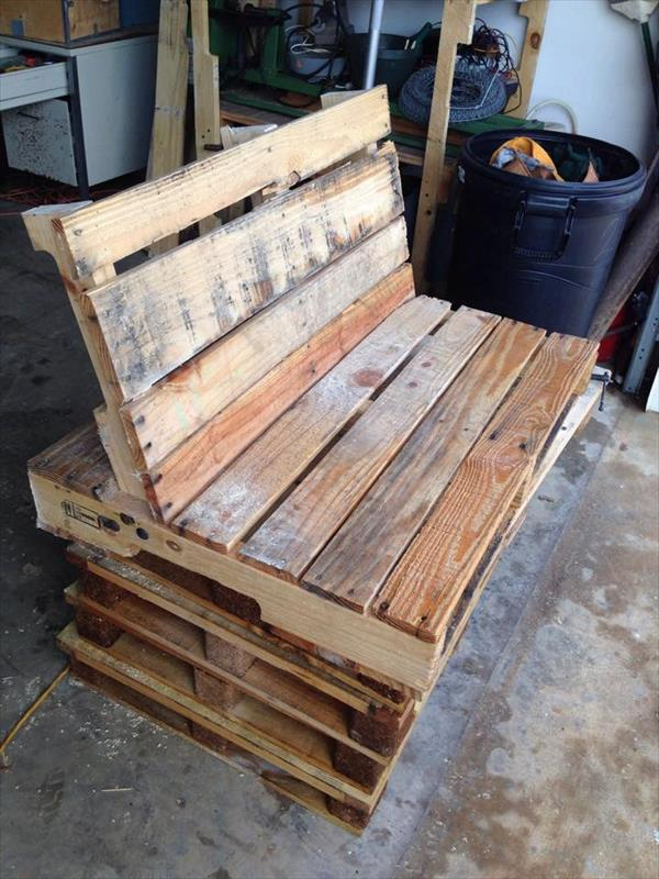 recycled pallet bench and swing