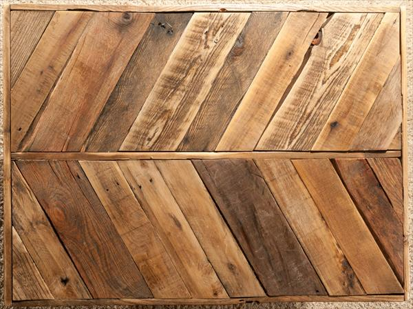 recycled pallet chevron sofa table