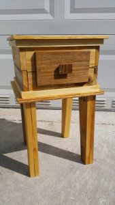 recycled pallet nightstand and sofa table