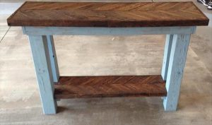 Pallet Chevron Sofa Side Table