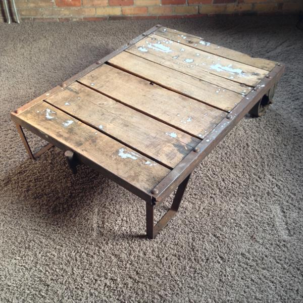 recycled pallet warehouse cart