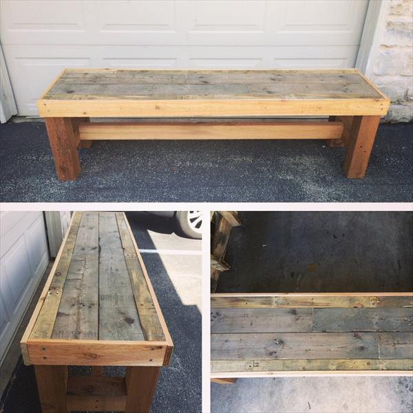 old pallet furniture. Recycled Pallet Wood Bench Old Furniture