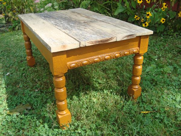 upcycled pallet modernized table
