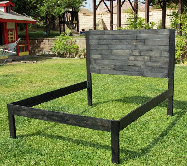 repurposed pallet bed frame