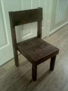 recycled pallet toddler chair