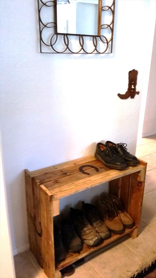 posts diy pallet shoe rack diy rustic pallet shoe rack diy pallet ...