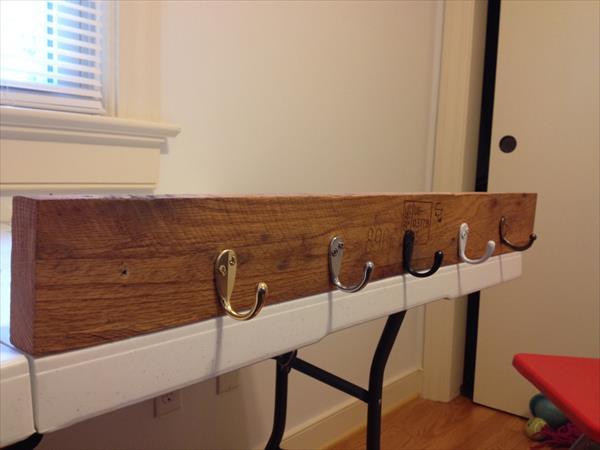 handmade pallet wall mount coat rack