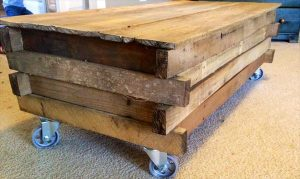 Rustic Pallet Coffee Table with Storage