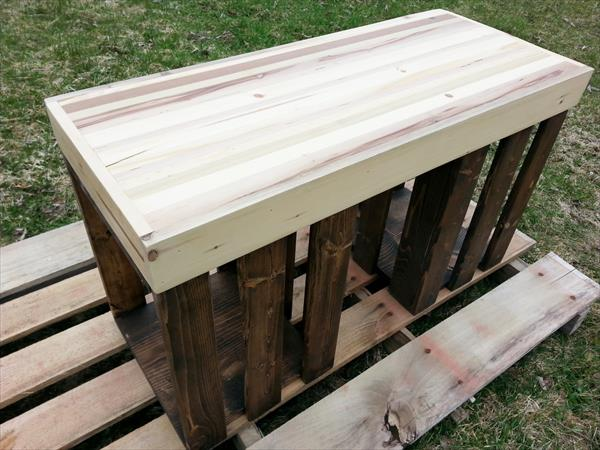 recycled pallet unique side table