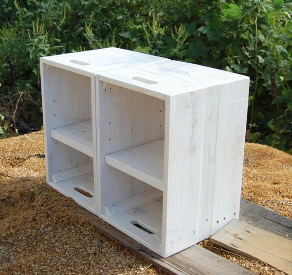 ... pallet white painted side tables for living room or seating room