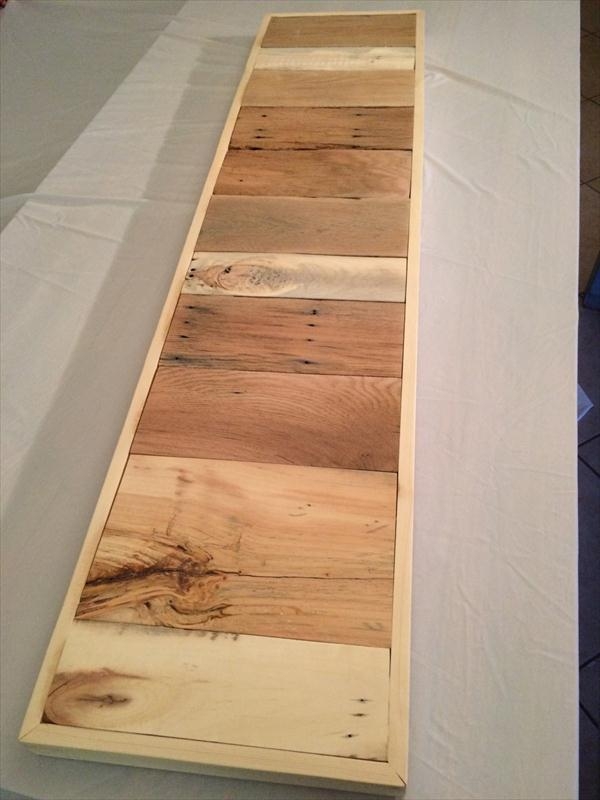 recycled pallet console table top