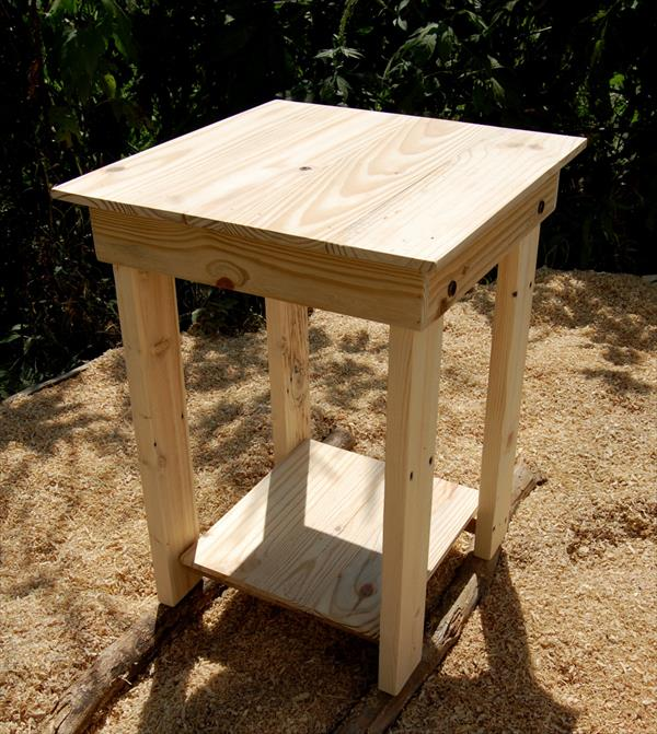 handmade pallet nightstand and side table