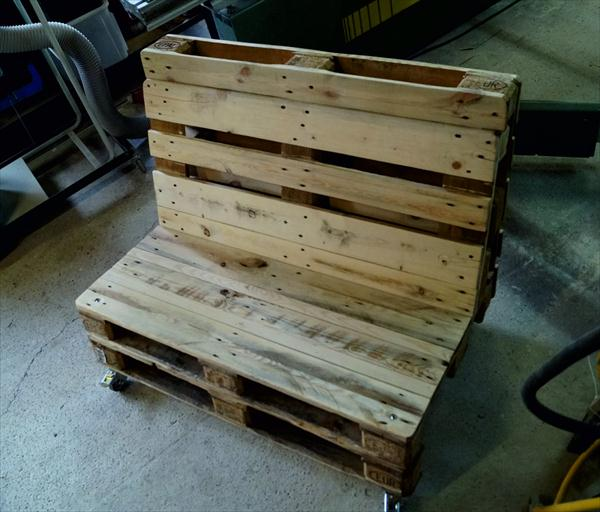 recycled pallet rustic two seated sofa